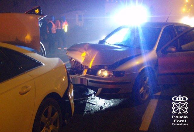 Accidente de tráfico en Villava