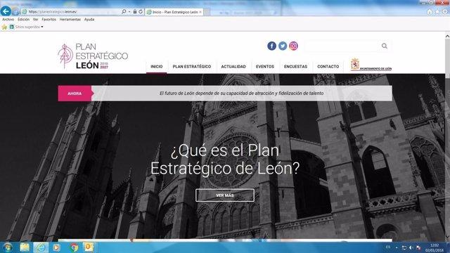Imagen de la web sobre el Plan Estratégico