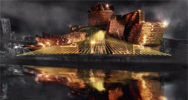 Espectáculo 'Reflections' del Museo Guggenheim