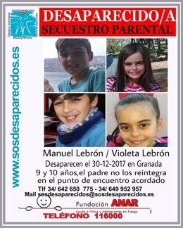 Los dos menores desaparecidos en Granada