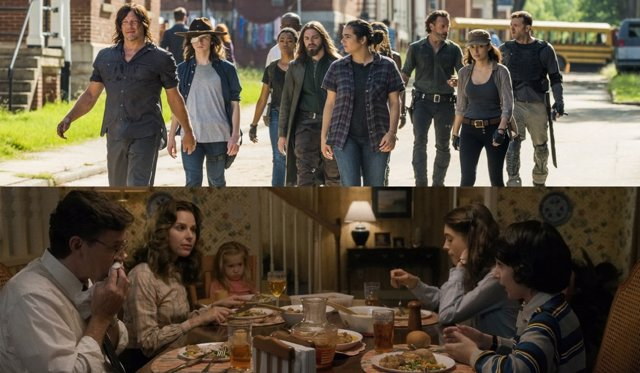 The Walking Dead y Stranger Things