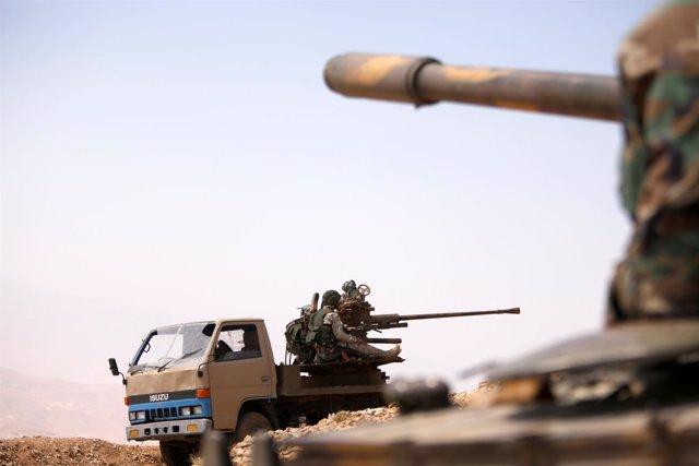 Tropas del Gobierno de Bashar al Assad en Siria