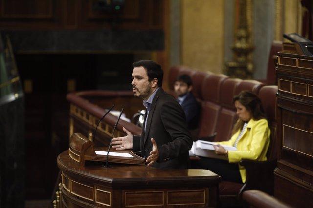 Alberto Garzón en el pleno del Congreso