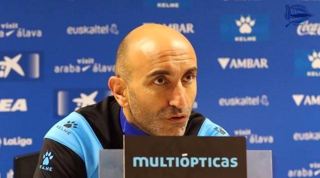 Abelardo, entrenador del Deportivo Alavés