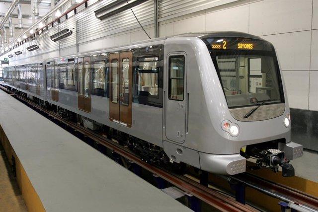 Tren de CAF para el metro de Bruselas