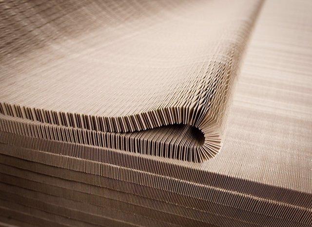Imagen del material del que está hecho la cubierta panal