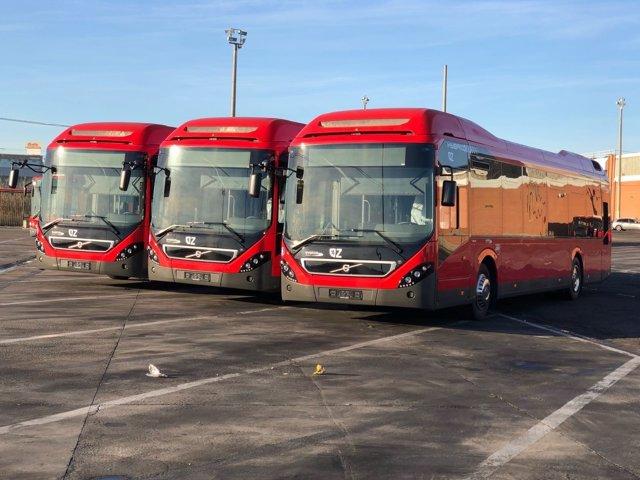 Llegan los cuatro primeros autobuses híbridos a Zaragoza