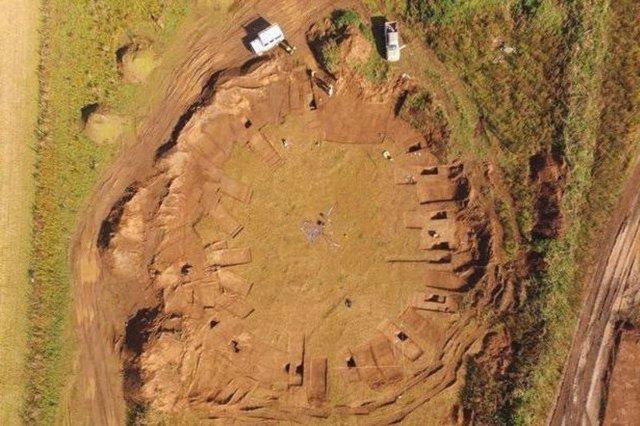 Vista aérea de la excavación