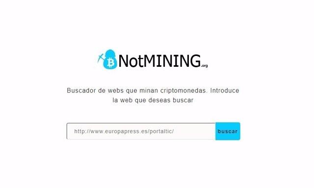 NotMining, web contra la minería de criptomoneda