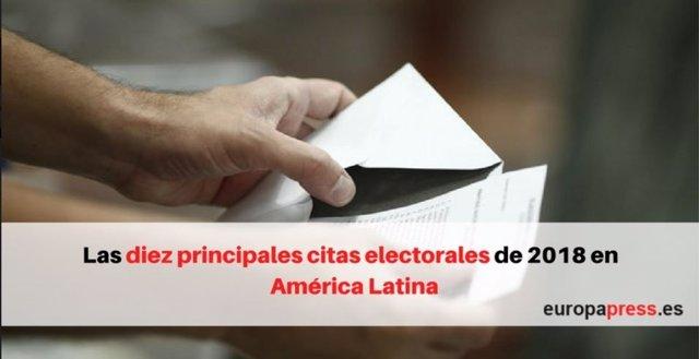 Las 10 principales citas electorales en América Latina