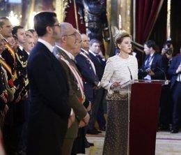 La ministra de Defensa, María Dolores de Cospedal, en la Pascua Militar de 2018