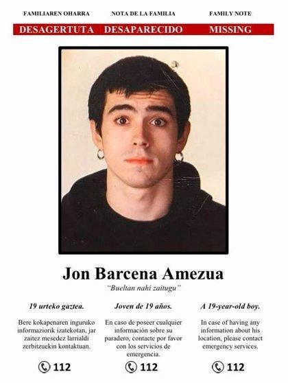 La familia de Jon Bárcena difunde un nuevo cartel en el pide la colaboración ciudadana