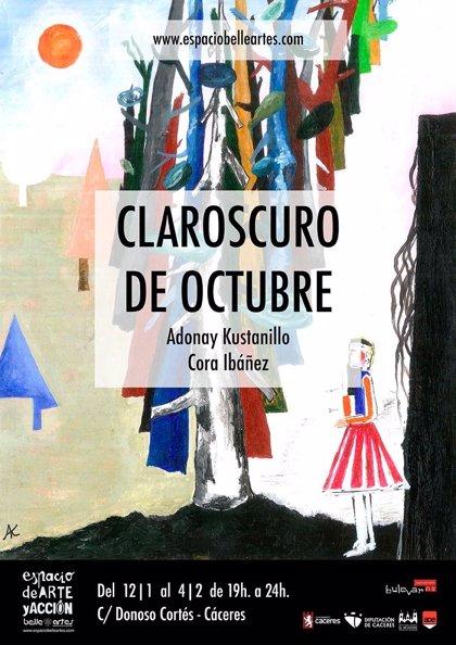 El Espacio Belleartes de Cáceres arranca el año con la muestra 'Claroscuro de octubre'