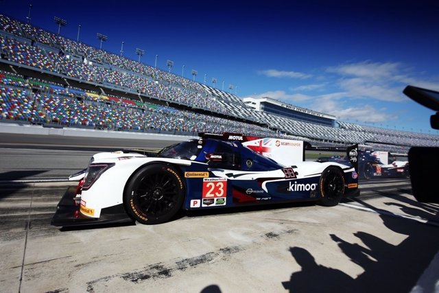 El piloto español Fernando Alonso en Daytona