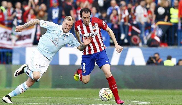 Godín y Guidetti en el Atlético de Madrid - Celta