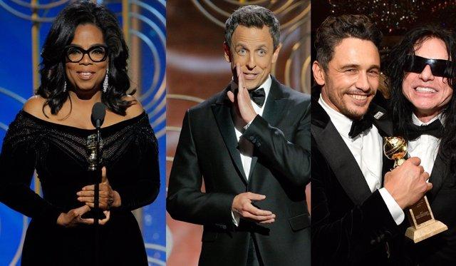 Oprah Winfrey, Seth Meyers y James Franco