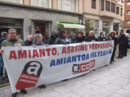 PVasco.- CC.OO. Euskadi exige agilizar la creación de fondo de compensación para las víctimas del amianto