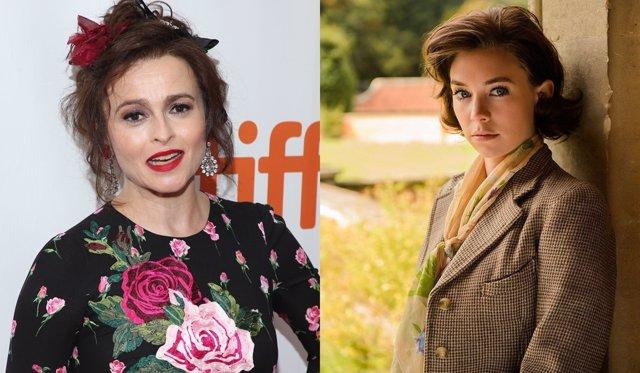 Helena Bonham Carter y Vanessa Kriby en 'The Crown'