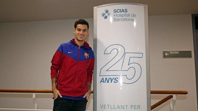 Coutinho llega al Barcelona
