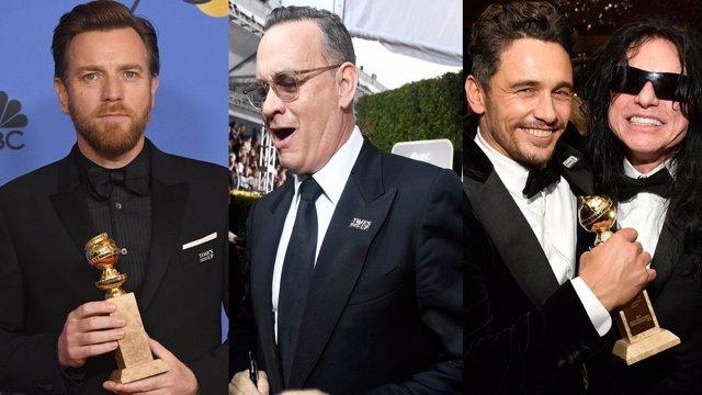 Ewan McGregor, Tom Hanks y James Franco en los Globos de Oro