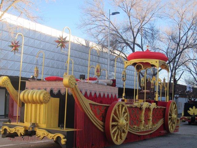 Una de las carrozas de la Cabalgata de Reyes de Madrid