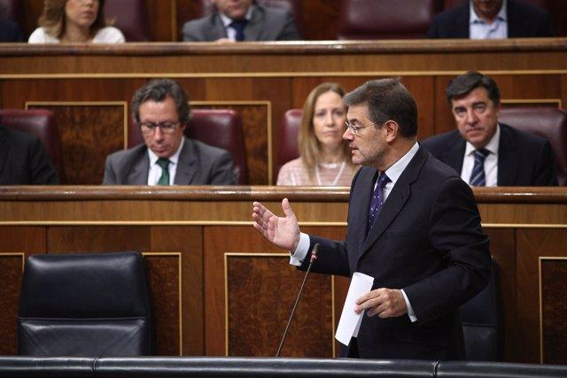 Rafael Catalá en la sesión de control en el Congreso