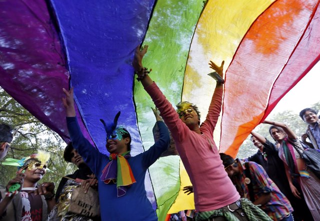 Manifestación de homosexuales en India