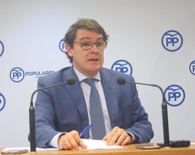 Valladolid. El presidente del PP, Alfonso Fernández Mañueco
