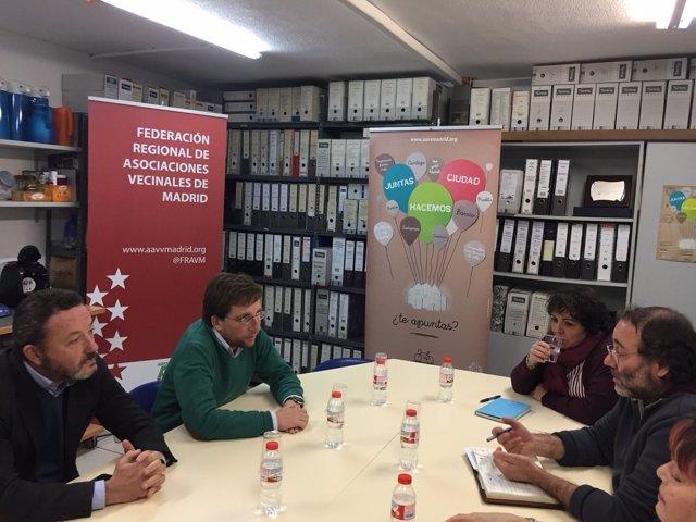Reunión entre PP y la FRAVM