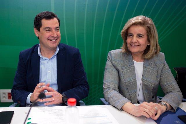Juanma Moreno, hoy junto a Fátima Báñez