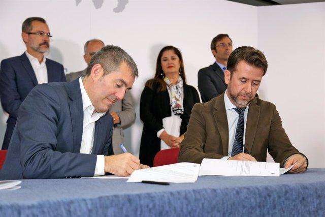 Np180108 El Gobierno De Canarias Firma El Ii Plan De Infraestructuras Sociosanit