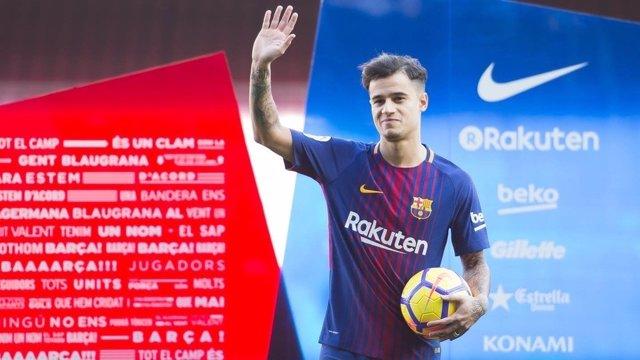 Coutinho, presentado en el Barcelona