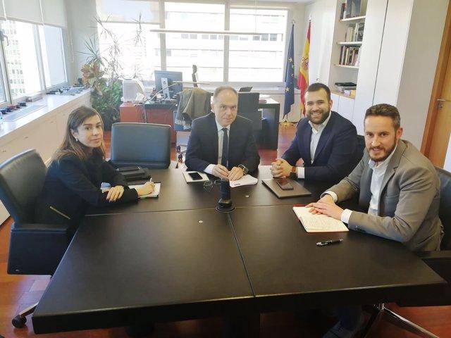 Reunión de concejales del PSOE con el presidente de ADIF