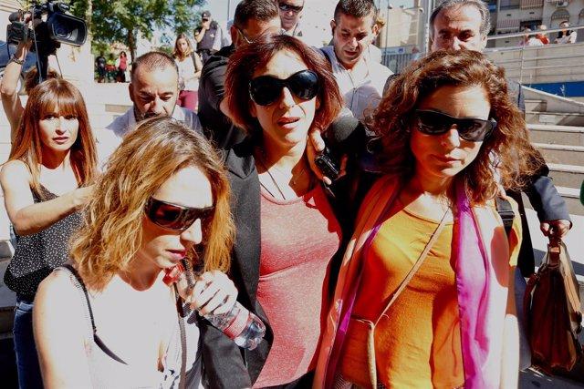 Juana Rivas, este martes a su salida de los juzgados de Granada