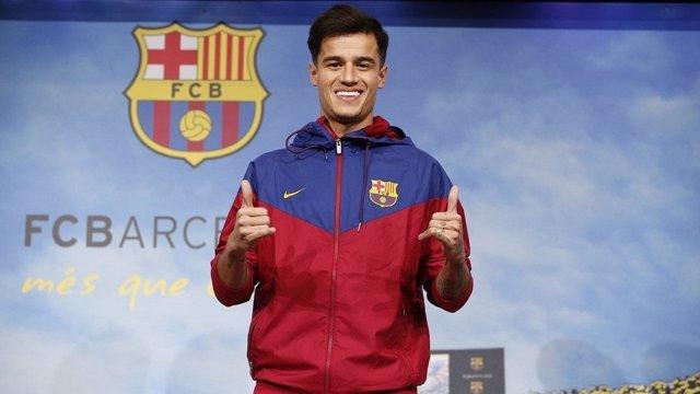 El nuevo jugador del FC Barcelona, Philippe Coutinho