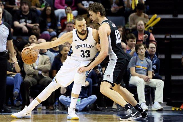 Memphis Grizzlies Marc Gasol San Antonio Spurs Pau Gasol