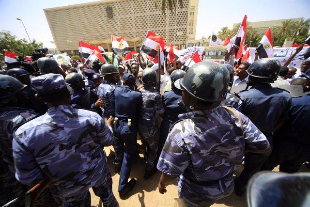 Protesta en Jartum (archivo)