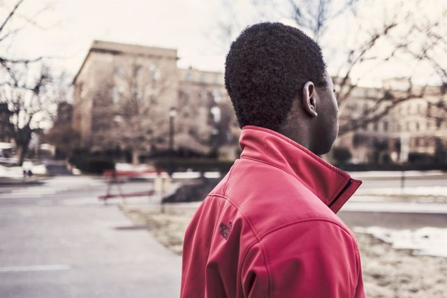 Hombre afroamericano, negro