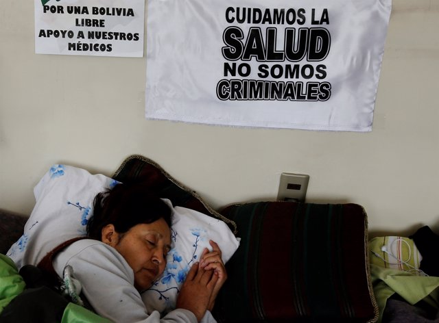 Teacher Wilma Plata remains in their 18th day of a hunger strike to protest agai