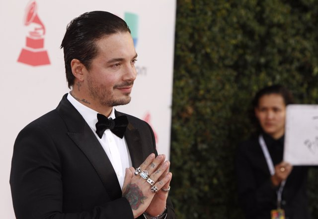 Singer J Balvin arrives at the 17th Annual Latin Grammy Awards in Las Vegas, Nev