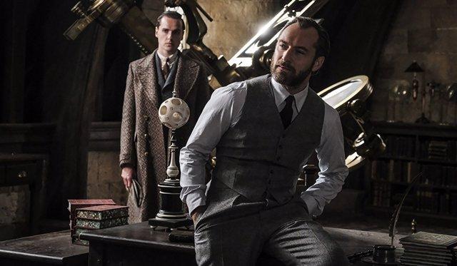 Jude Law en 'Los crímenes de Grindelwald'