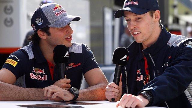 Kvyat y Carlos Sainz (Toro Rosso)