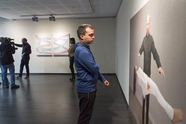 Una de las obras de la muestra en el Centro de Cultura de Unicaja