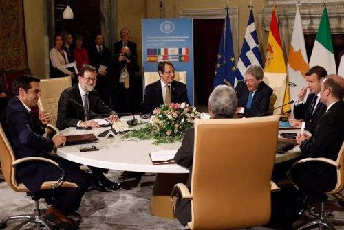 Rajoy en la Cumbre de los Países del Sur de Roma