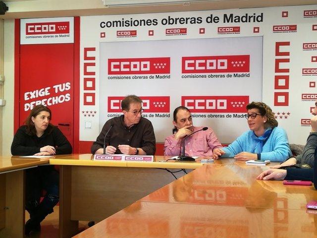 Cedrún, Periáñez y Guerra durante la rueda de prensa