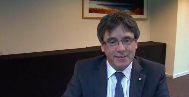 Videoconferencia de Carles Puigdemont