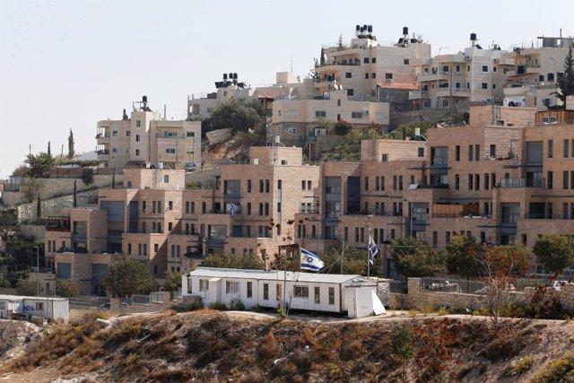 Asentamiento israelí de Nof Zion, en Cisjordania