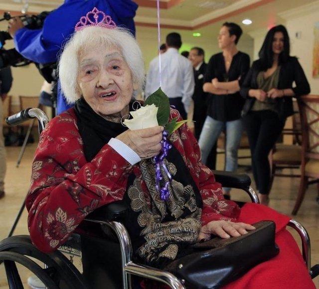 Isabel Castaño en la celebración de su cumpleaños