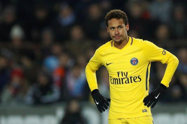 Neymar Junior, enfadado tras una derrota con el PSG