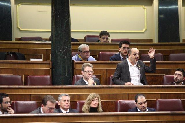Carles Campuzano en la sesión de control en el Congreso